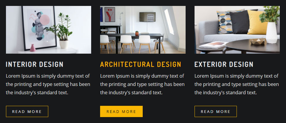 Service Style With Dark Color