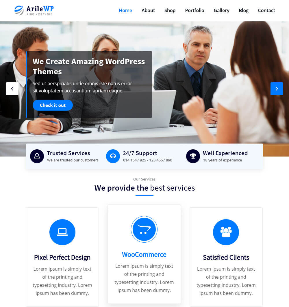 ArileWP WordPress Theme