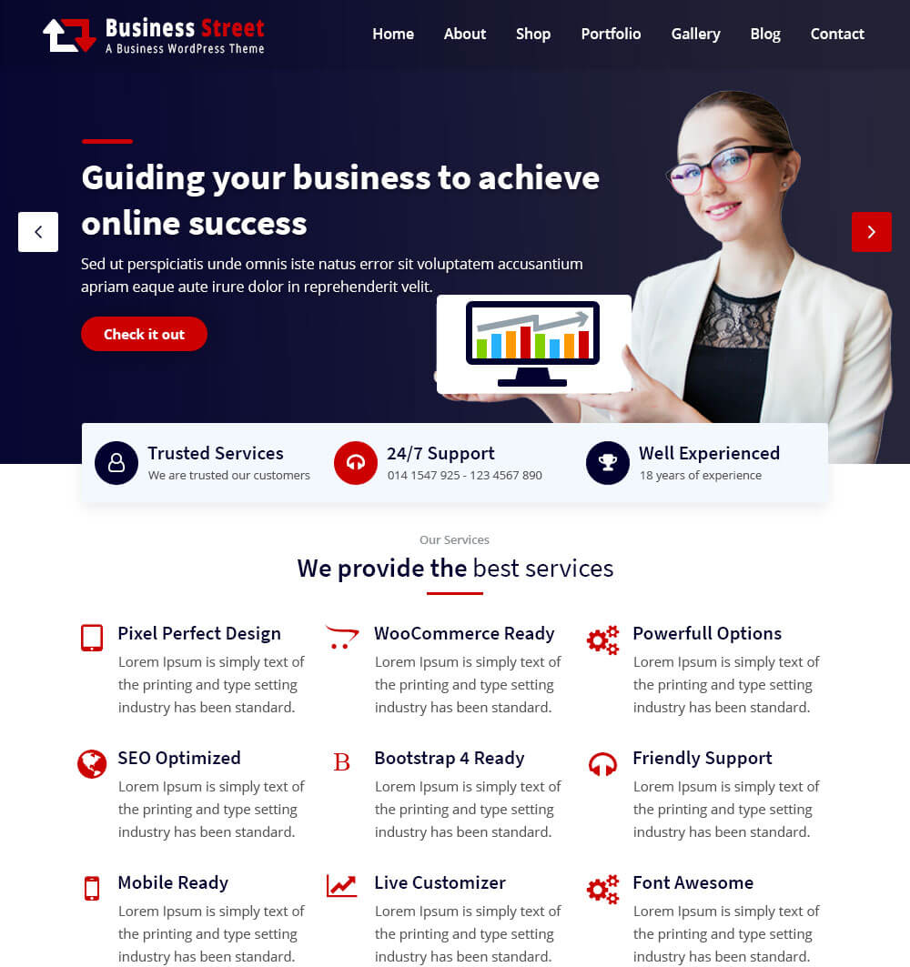 Business Street WordPress Theme