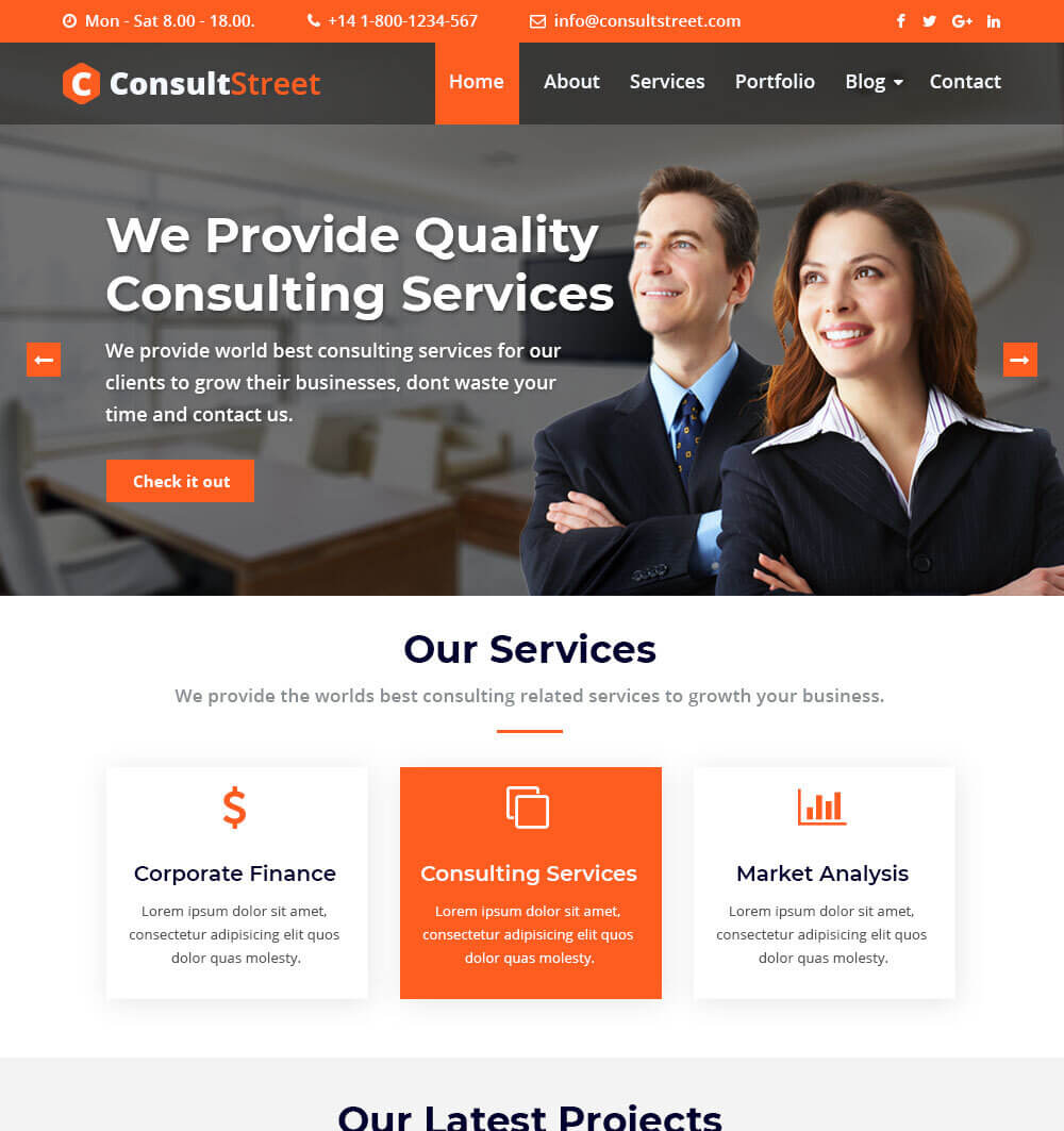 ConsultStreet WordPress Theme