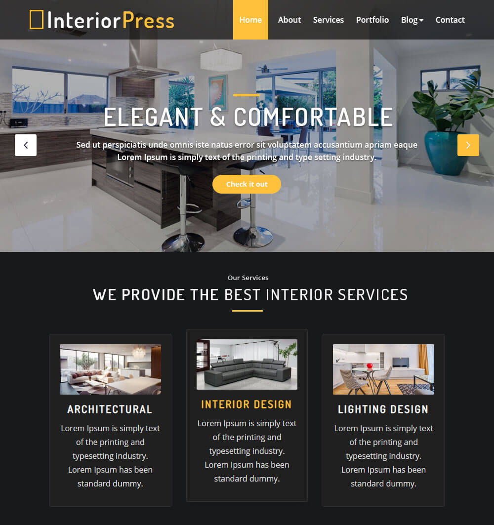 InteriorPress WordPress Theme