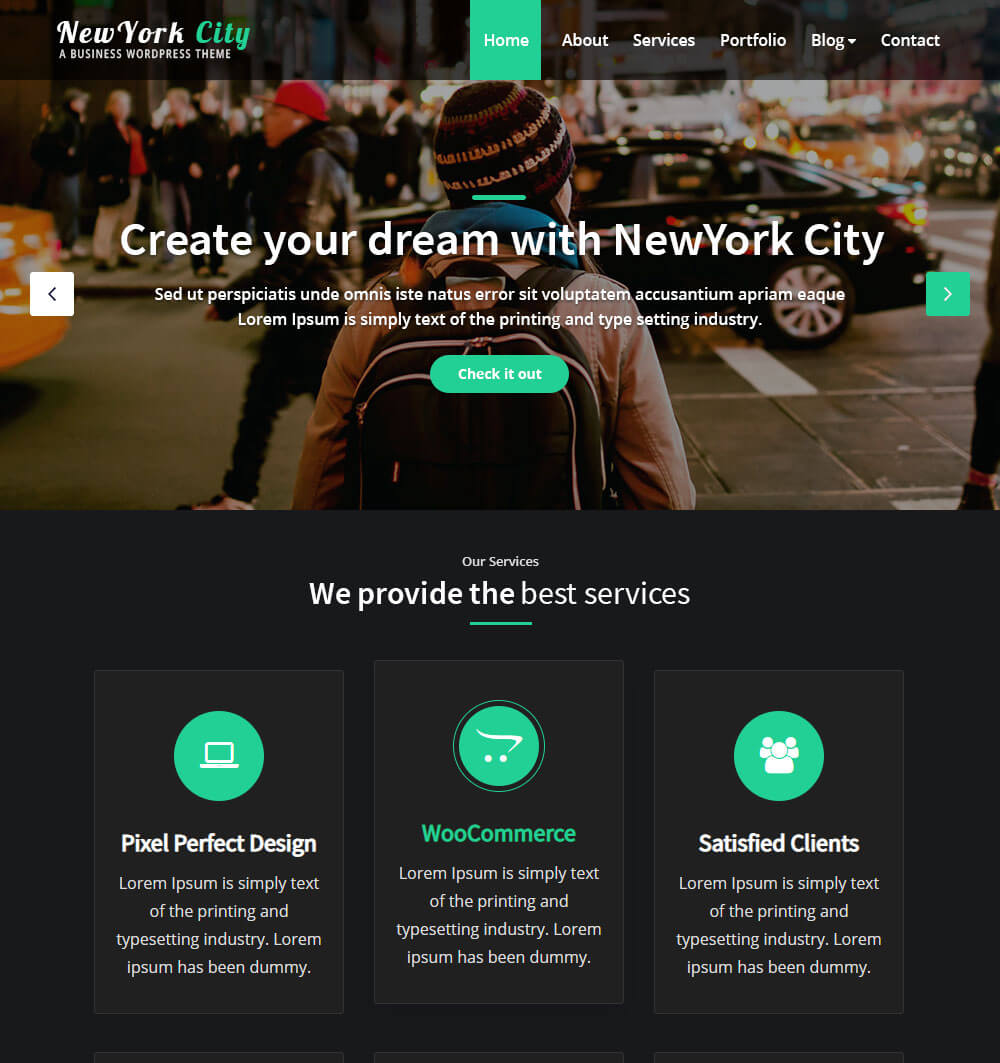 NewYork City WordPress Theme
