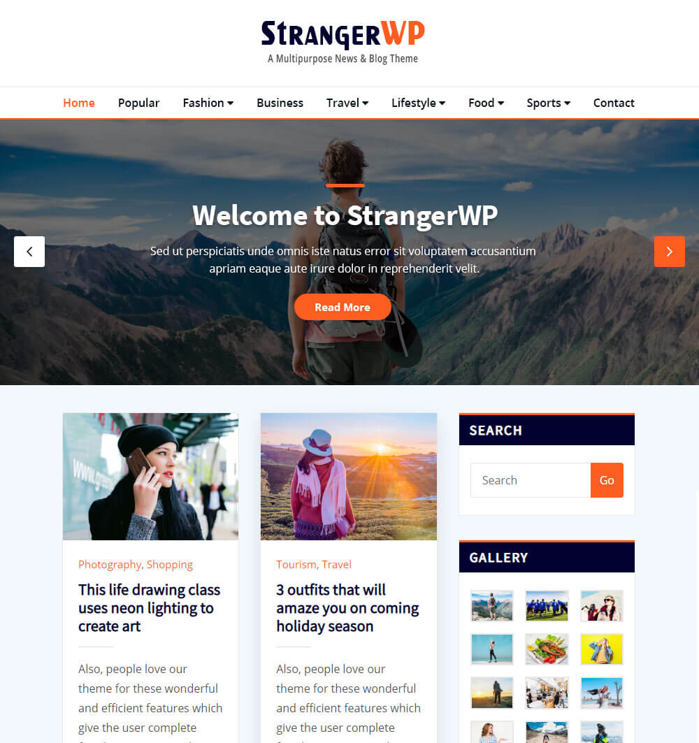 strangerwp WordPress Theme