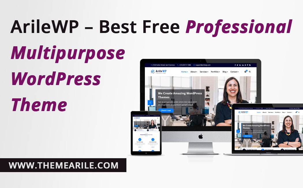 ArileWP Best Free Professional Multipurpose WordPress Theme