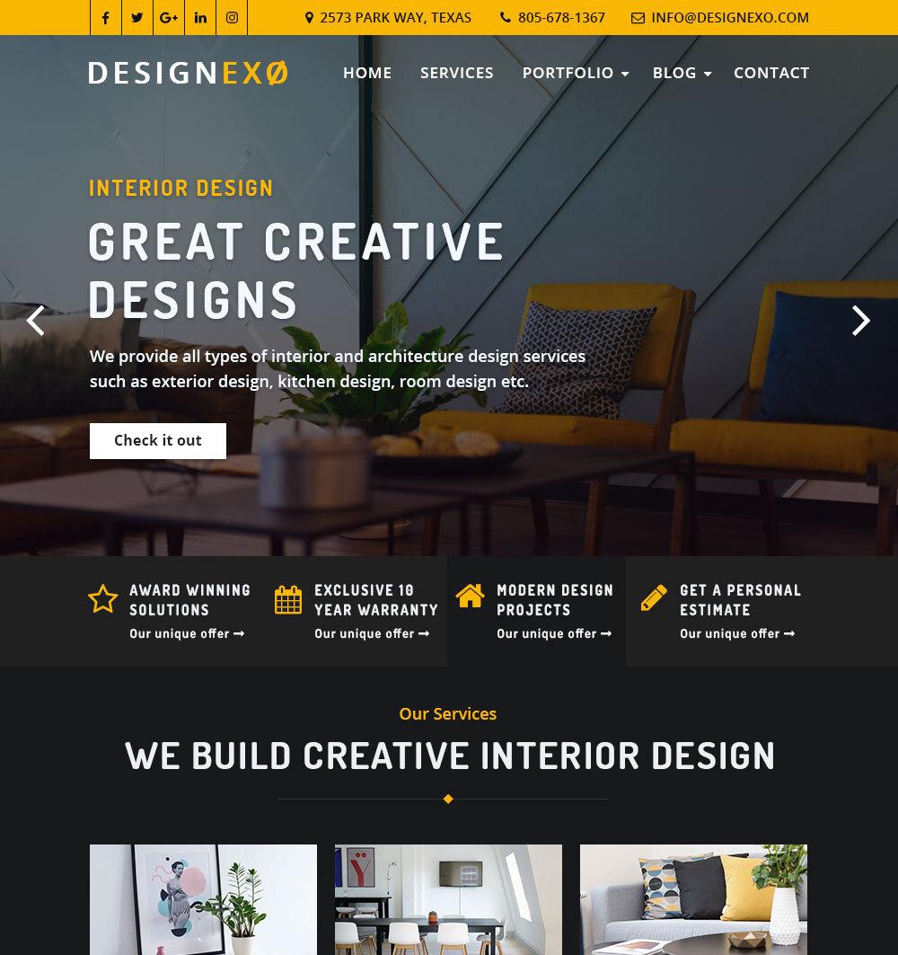 Designexo - Architecture & Interior WordPress Theme